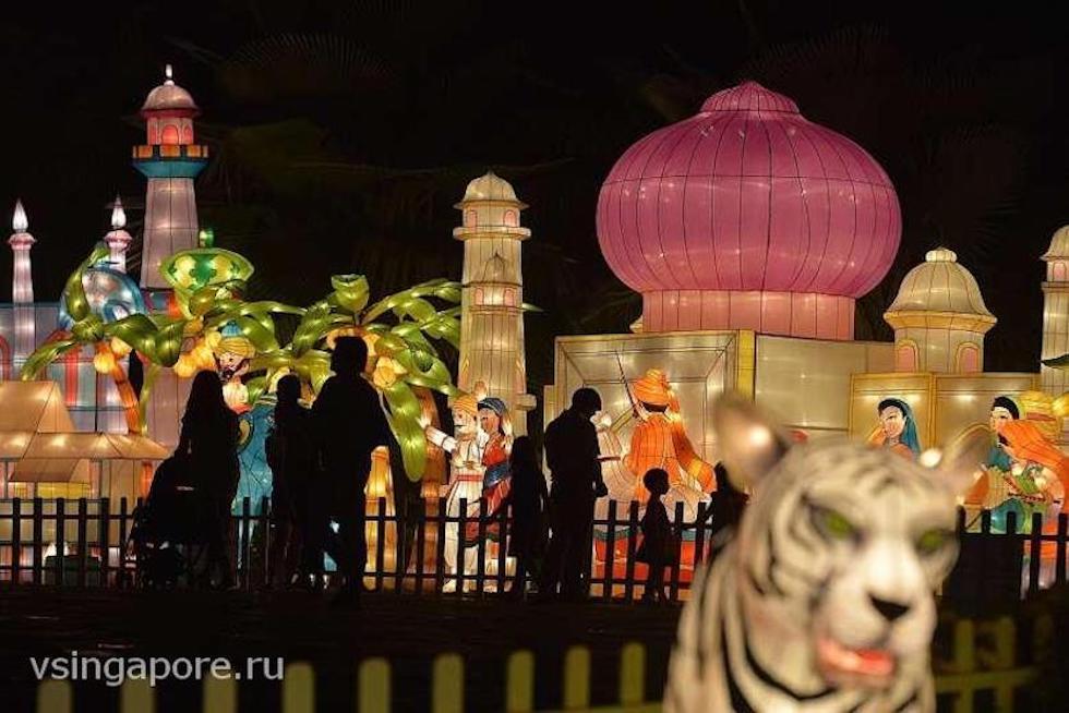 Фестиваль Середины Осени Сингапур Марина Бей