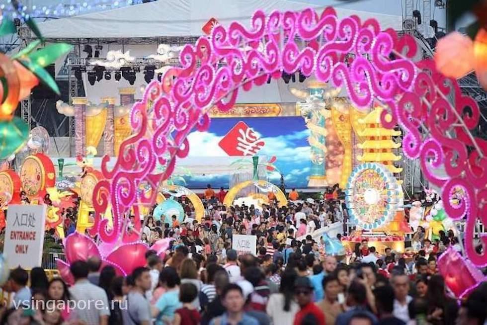 Шоу на китайский новый год Марина Бей Сингапур