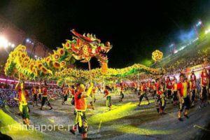 Паркад на Китайский Новый год Сингапур