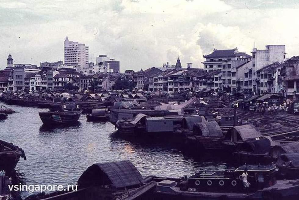 Река Сингапур в 1965