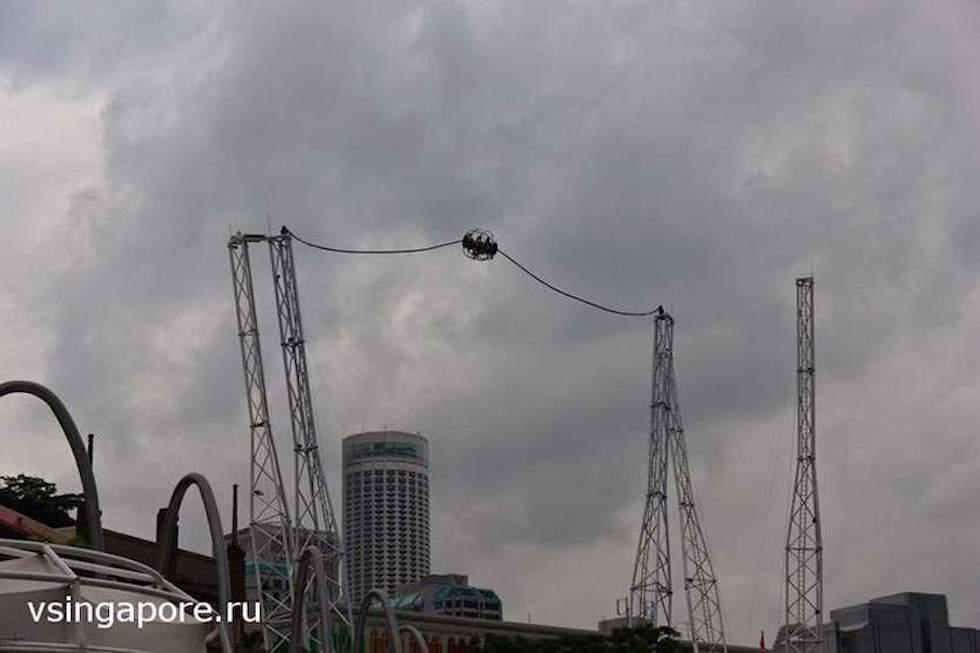 Аттракцион G-Max Reverse Bungy Singapore