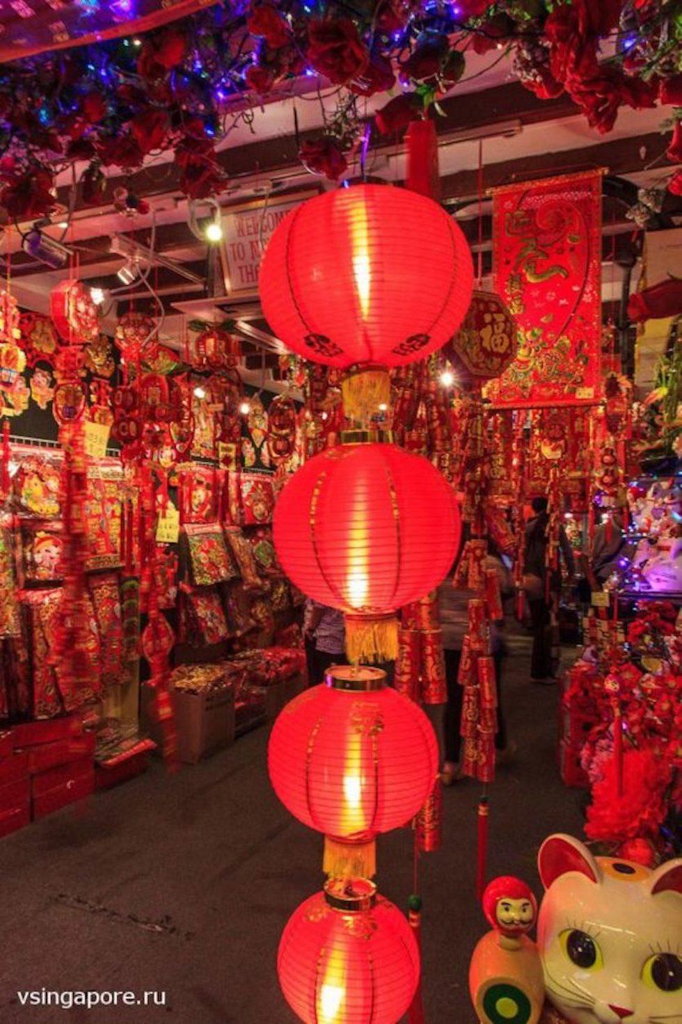 Чайнатаун в Сингапуре на Китайский Новый год