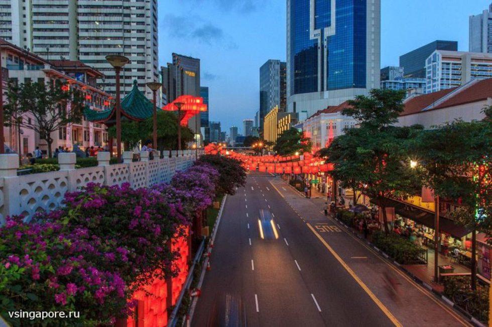 Новогодний Чайнатаун в Сингапуре