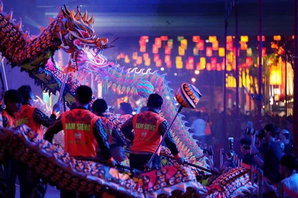 Фестиваль Середины осени в сингапурском Чайнатауне