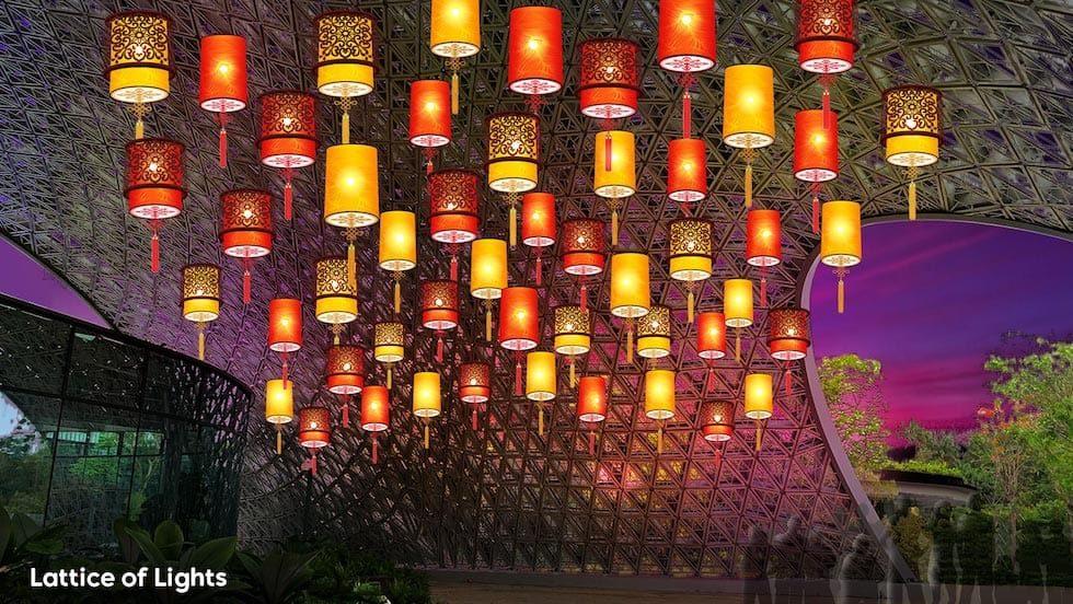 Фестиваль середины осени в садах Марина Бей Сингапур