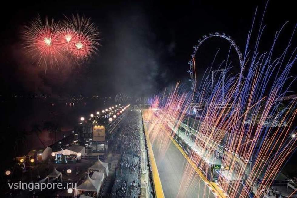 Гран-при Сингапура 2016 - праздничный салют