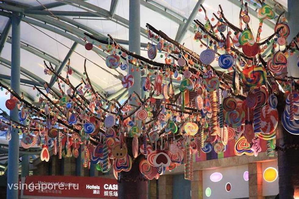 Китайский Новый год на острове Сентоза Сингапур