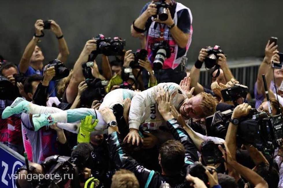 Нико Росберг - победитель автогонки Гран-при Сингапур 2016