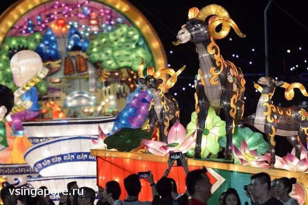 Новогоднее представление на Марина Бей, Сингапур