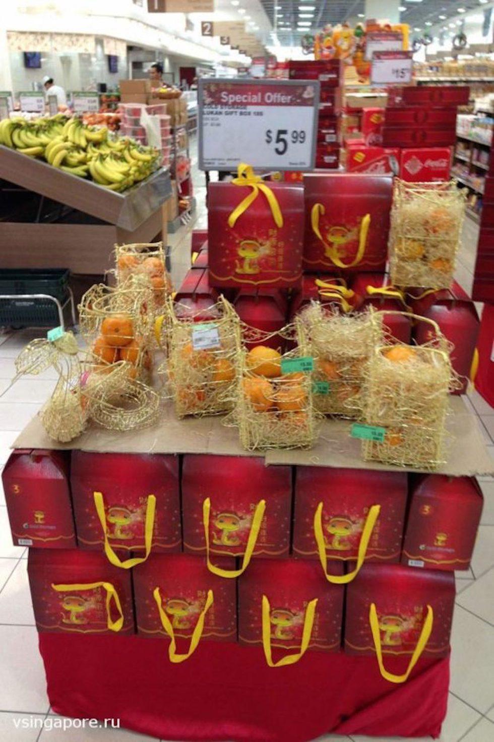 Новогодние подарки в Сингапуре
