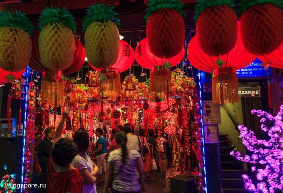 Новогодний Чайнатаун Сингапура