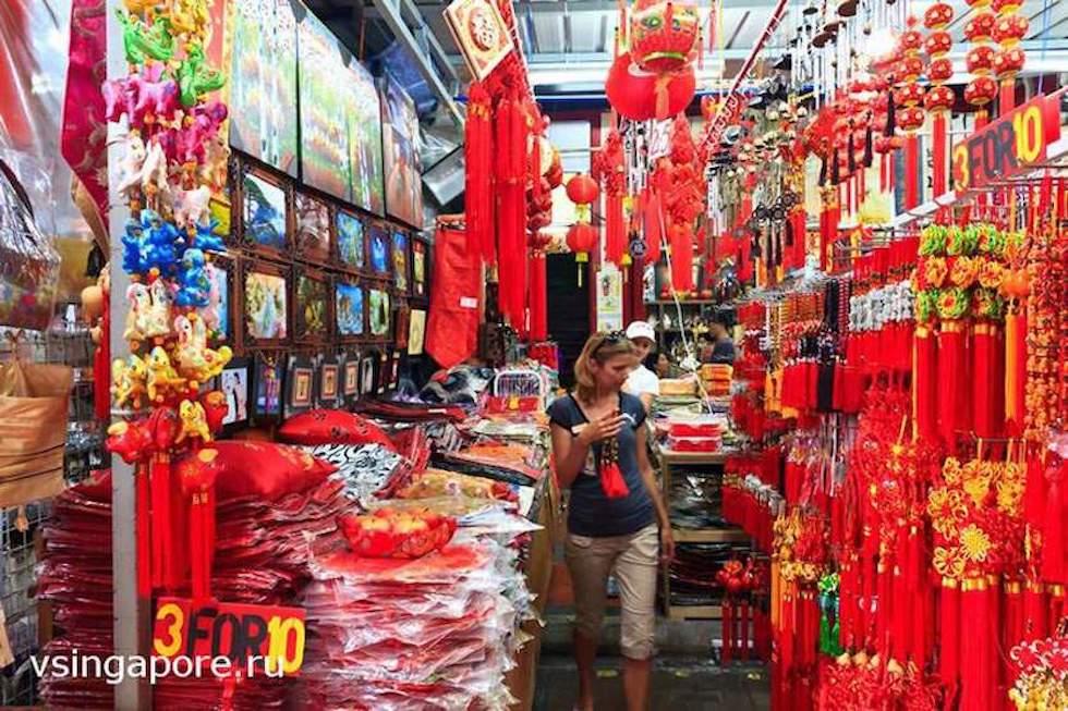 Распродажа в Чайнатауне Сингапура